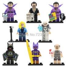 DC Super Hero Vacation Batman Figure Set Alfred Jor-El Batgirl Wonder Twins Zan Jayna General Zod Building Blocks kits Toys