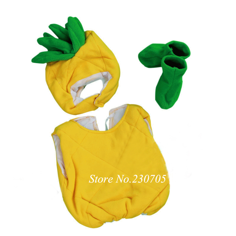 Unisex Infant Baby Pineapple Costumes Outfit Newborn clothing Hat + Jumpsuit+ Shoes Newborn Photography Props Free shipping-in Hats u0026 Caps from Mother ...  sc 1 st  AliExpress.com & Unisex Infant Baby Pineapple Costumes Outfit Newborn clothing Hat ...