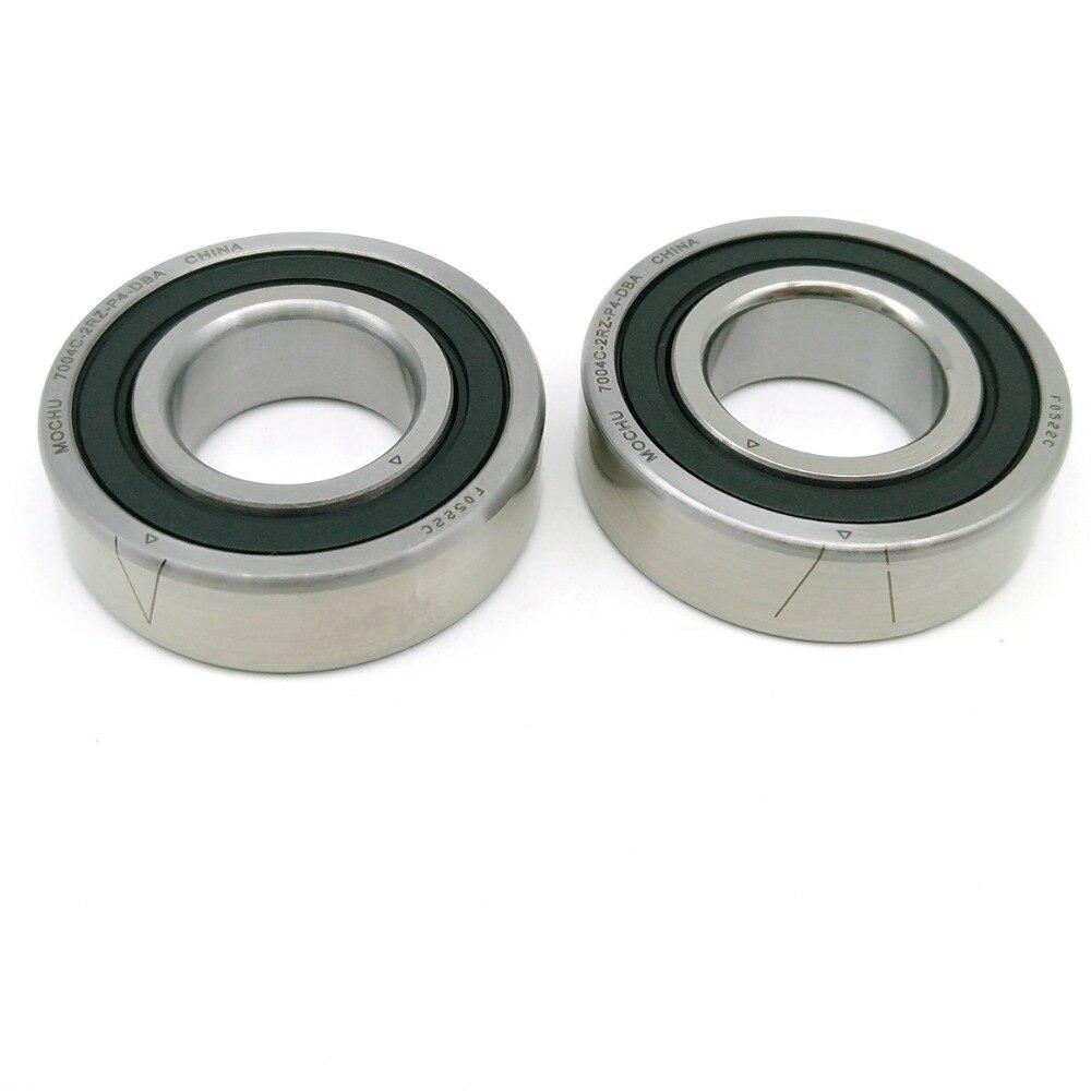 1 Pair MOCHU 7004 7004C 2RZ P4 DB A 20x42x12 20x42x24 Sealed Angular Contact Bearings Speed Spindle Bearings CNC ABEC-7 1 pair mochu 7009 7009c 2rz p4 db a 45x75x16 45x75x32 sealed angular contact bearings speed spindle bearings cnc abec 7