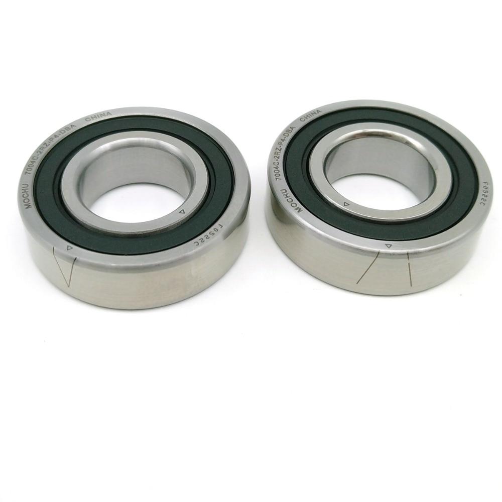 1 paire MOCHU 7004 7004C 2RZ P4 DB A 20x42x12 20x42x24 roulements à Contact oblique scellés roulements de broche de vitesse CNC ABEC-7