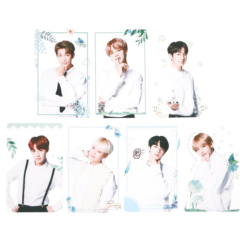 7pcs/set K-pop Bts Transparent Pvc Photo Cards Bangtan Boys Matte Photocard Poster