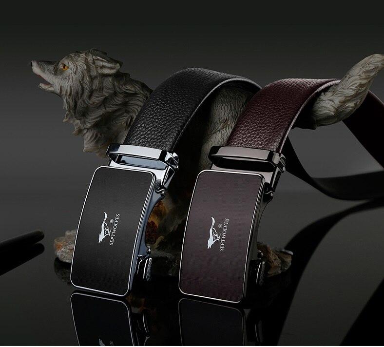 Peau de vache hommes ceintures en cuir véritable mâle luxe sangle design ceintures de haute qualité mode noir café ceintures en métal automatique boucle