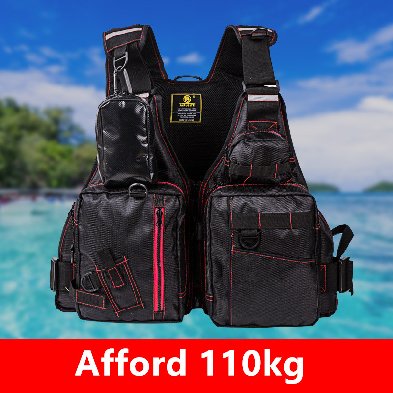 New Fishing Vest Life Jacket Men s High Buoyancy Multi pocket Removable Large Size Afford 110kg