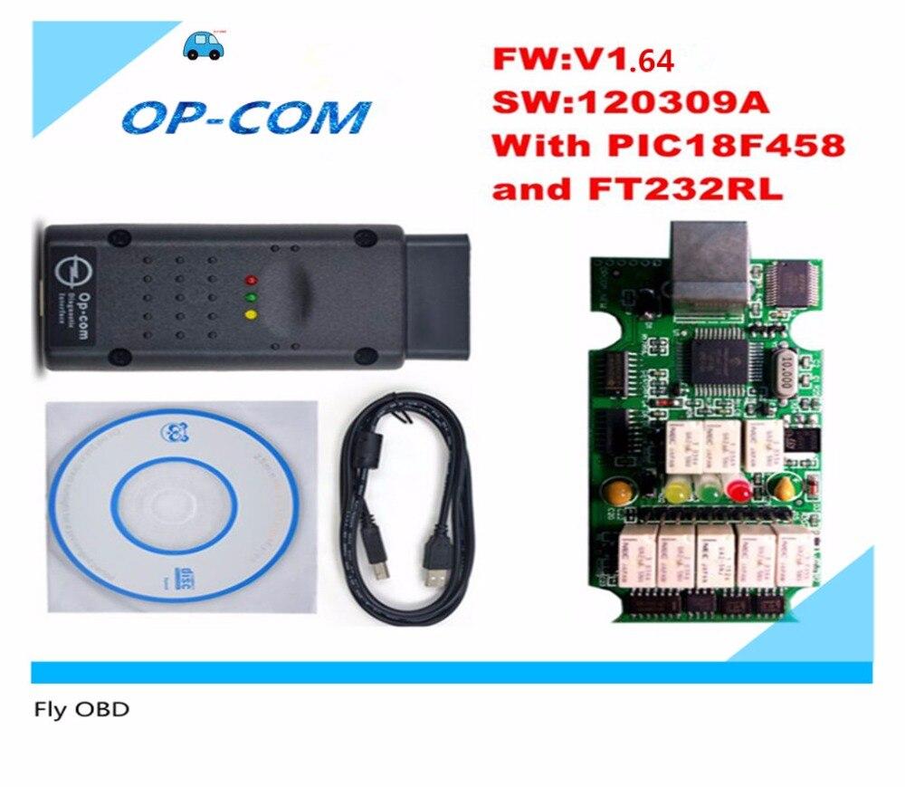 Prix pour 2017 Opcom OP-Com OP-COM V1.64 Auto Radiodiagnostique Interface Outil Avec Date 2014.02 Logiciel 120309A Pour SAAB OPCOM OPEL Interface