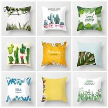 Fuwatacchi Tropical Plants Cushion Cover Colorful Flower Flamingo Pineapple Pillow Cover Car Home Sofa Decoration Pillow Case nordic style tropical plants flamingo green leaf cushion cover decoration for home sofa chair car pillow case friend kids gift