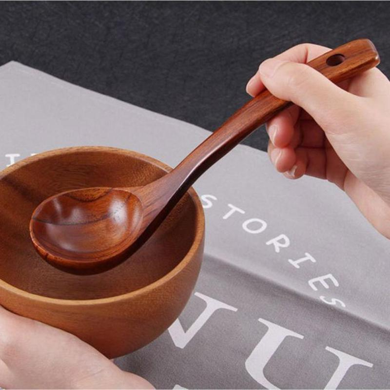 Hand Carved Wooden ladle Spoons Eco friendly