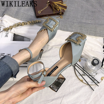 Talon Transparente para Mujer, tacones con diamantes De imitación, Zapatos Mary Jane,...