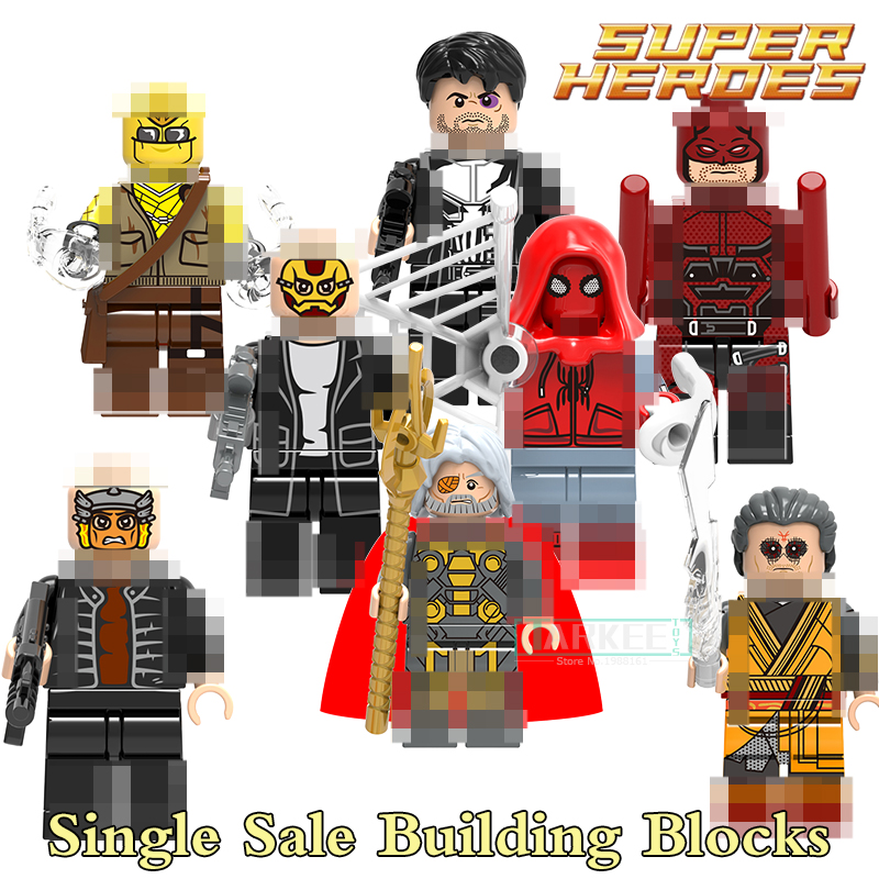 Building Blocks X0180 Daredevil Kaecillius Punisher Super Heroes Star Wars Set Action Bricks Dolls Kids DIY Toys Hobbies Figures building blocks the walking dead figures rick negan carl daryl star wars super heroes set assemble bricks kids diy toys hobbies