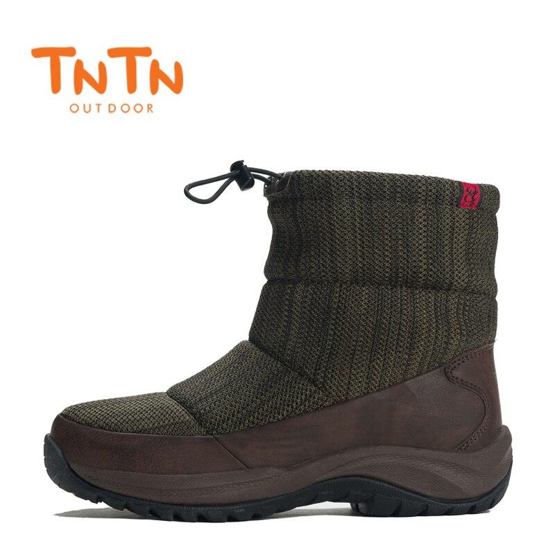 TNTN 2017 Waterproof Womens Outdoor Winter Boots Fleece Snow Boots Women Breathable Hiking Shoes Walking Shoes For Women Warm