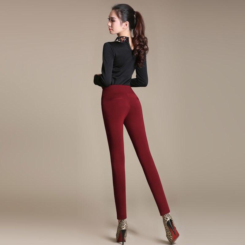 Weibliche übergroße Hosen für das Arbeitsbüro Herbst Winter plus - Damenbekleidung - Foto 4