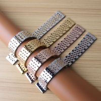 18mm 19mm 20mm 21mm Watchband Mens Women High Quality Stainless Steel Band Silver gold Rosegold Watch Bracelet Strap replace