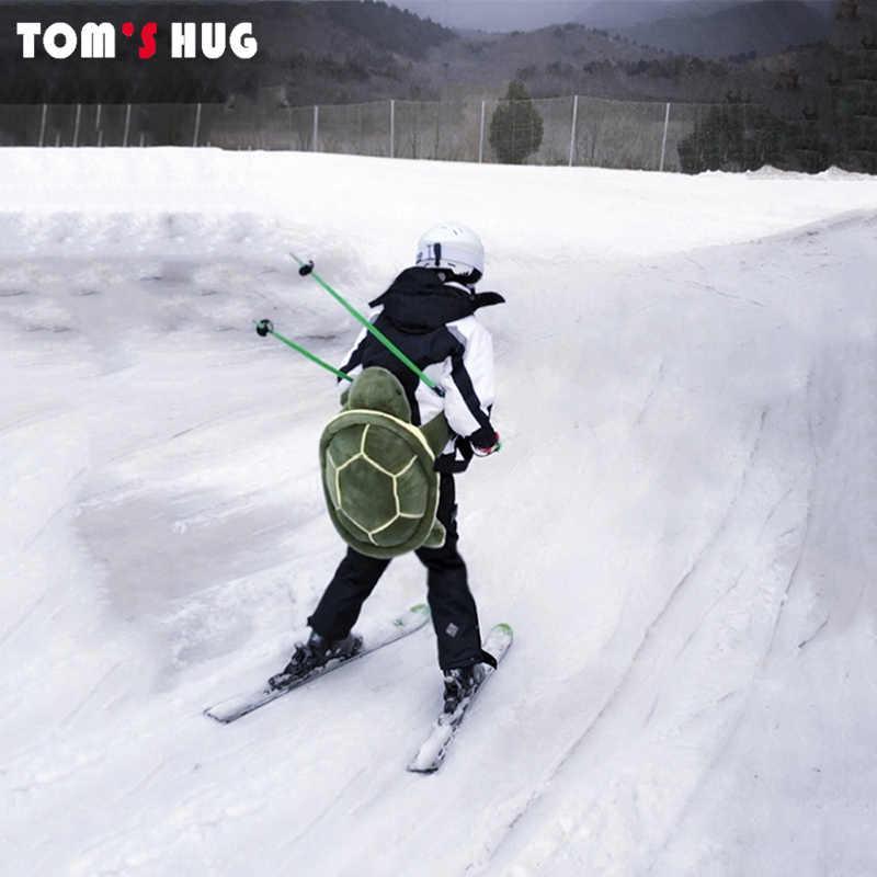 กีฬากลางแจ้งสกีสเก็ตขนาดเล็กสีเขียวเต่าสะโพกป้องกันด้านล่างเบาะสำหรับสกี & Roller สโนว์บอร์ดป้องกันสะโพก