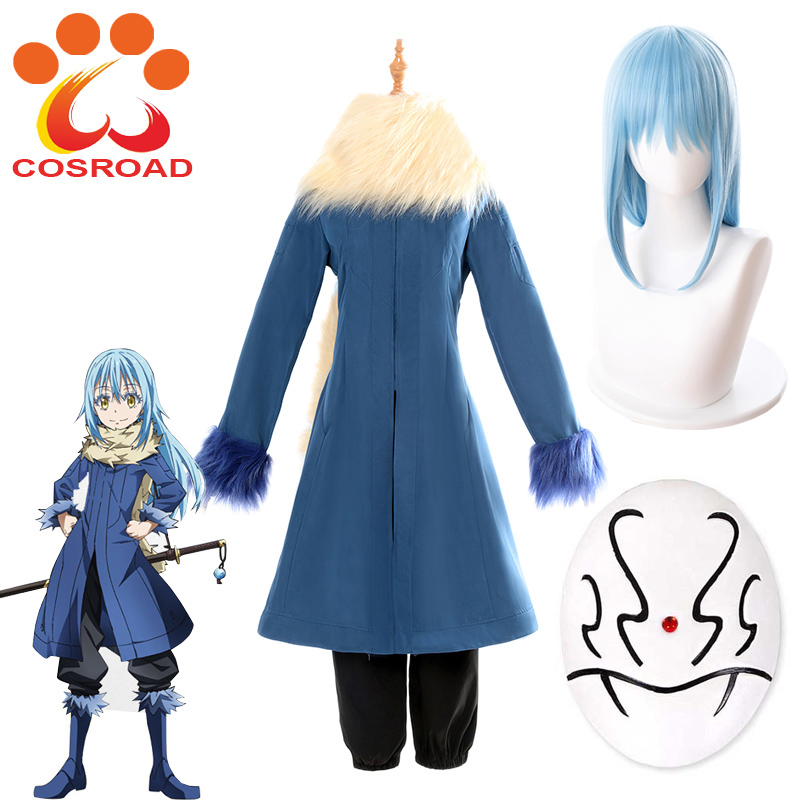 Cosroad That Time I Got Reincarnated as A Slime Rimuru Tempest Cosplay Costume Wig Mask Accessories-in Anime Costumes from Novelty & Special Use