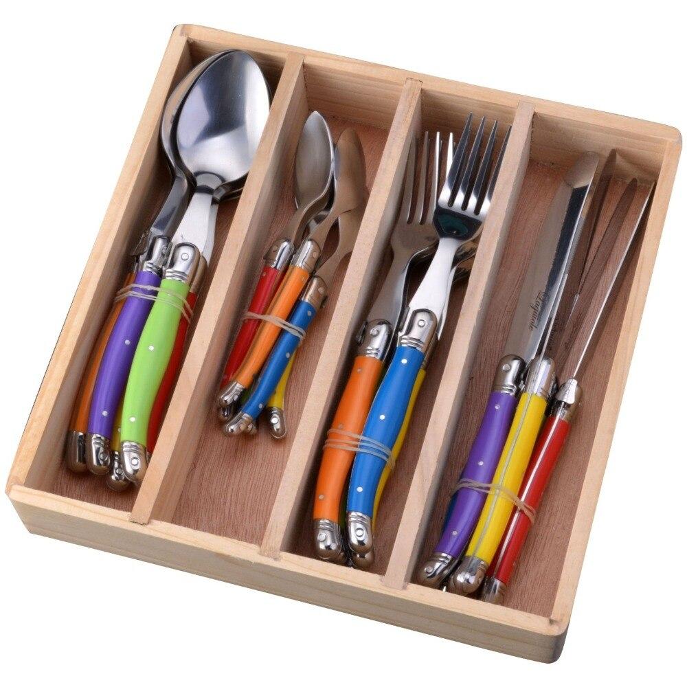 Stainless Steel Flatware Set Colorful Tableware Cutlery Dinnerware Set hot new