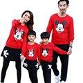 Niño niña kid clothing shirt + pants set familia mirada de padre e hijo de lun a juego de ropa de la madre padre hija trajes familia disfraces