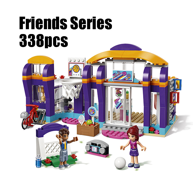 Compatible with Lego Friends 41312 Lepin 01012 338pcs building blocks Heartlake Sports Centre Bricks figure toys for children lepin 02012 city deepwater exploration vessel 60095 building blocks policeman toys children compatible with lego gift kid sets