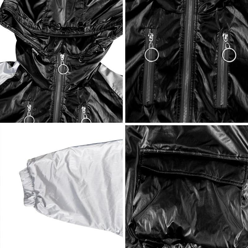 Survêtement Courtes Bat Conception Femme Tops Vestes Manteaux Couleurs Parkas Hit Gx1523 Nouveau Mode Sustans D'hiver Manches Hooede Black 2018 FBAxn4wq