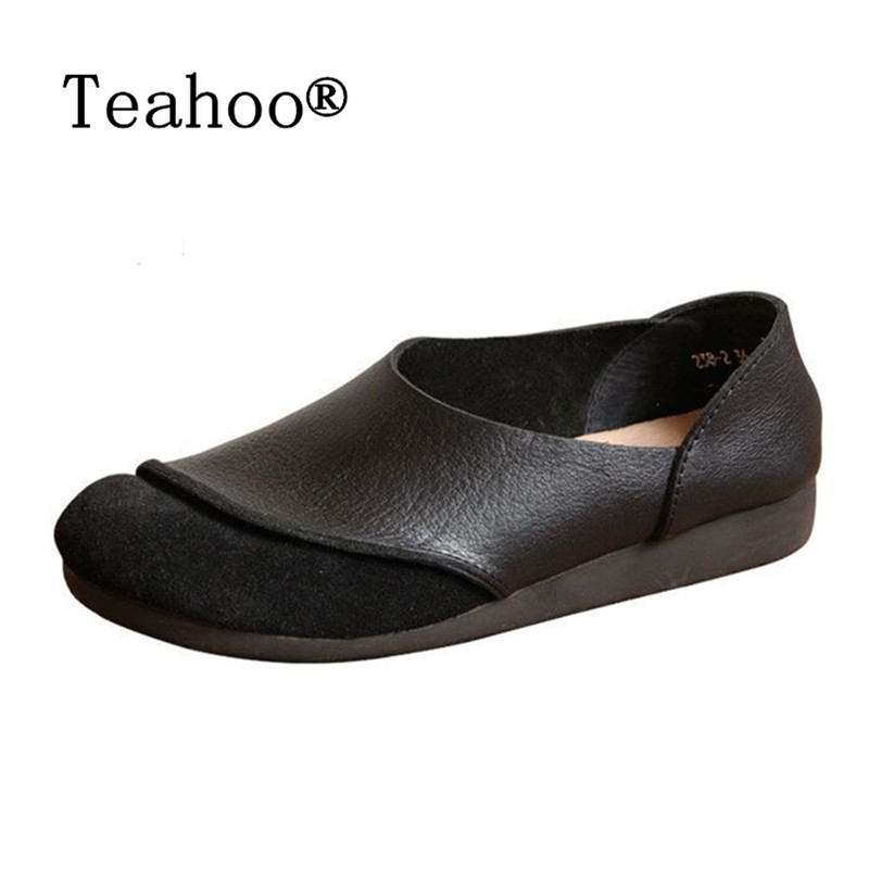 2017 Genuine Leather Women Flats Shoes Fashion Casual Slip On Soft Loafers Spring Moccasins Female Driving Shoes Handmade Plus chilenxas 2017 new spring autumn soft leather breathable comfortable shoes flats men casual fashion solid slip on handmade