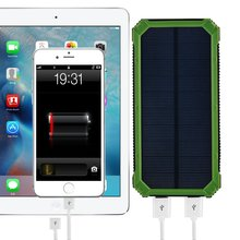 Powerbank PowerGreen Solar Charger 15000mAh External Battery Pack with LED for Mobile Phones