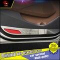 Para hyundai tucson terceiro 2015 2016 carro de aço inoxidável tampa decoração do carro porta anti-kick pad proteção porta-styling
