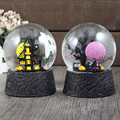 1PC Snow Globe carousel Music box Rotation Landscape LED Light Musical Box Power Battery Rotary Natal Gift Christmas music box