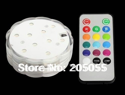 10 led Color changing submersible Wedding Party light Base Vase Remote controll paper lantern Floralytes Floral light-Multicolor