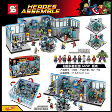 2016 nuovo SY368 1521pz Superhero,Avengers anime action minifigures building blocks doll toy for children Compatible with legoes
