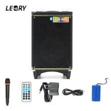 A8-2 LEORY US Wtyczka 100 W 4400 mAh Nagrywania Głośnik z Bluetooth Głośnik Mikrofon Ręczny Pilot Party Zestaw