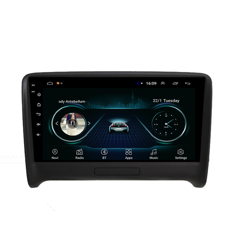 Car good radio pricise GPS built-in Wifi Car multimedia radio excellent camera beautiful wallpaper for AUDI TT 9inch Android 8.1