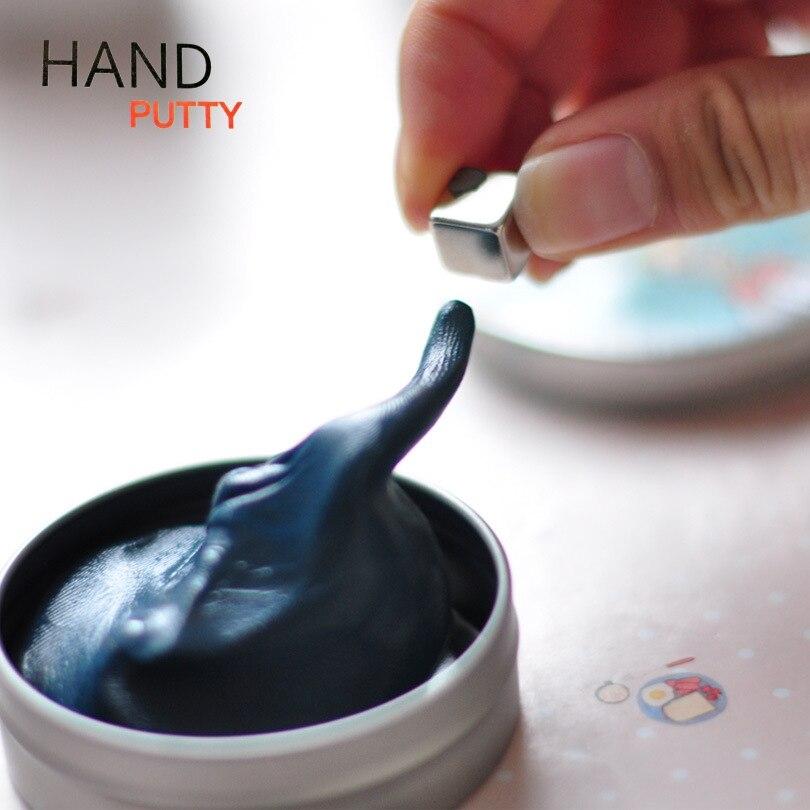 Marca Mão Slime Putty Silly Putty Plasticina Magnético com Ímã Forte Lama de Argila Playdough DIY Educacional Brinquedo