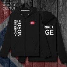 Norveç Norge NOR Norwegian Nordmann HIÇBIR erkek fleeces hoodies kış formaları ceket erkek ceket ve elbise ulus ülke hırka