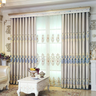 2019 new style, European style curtains, quality slogan: Our commitment: not to do bad products  82268