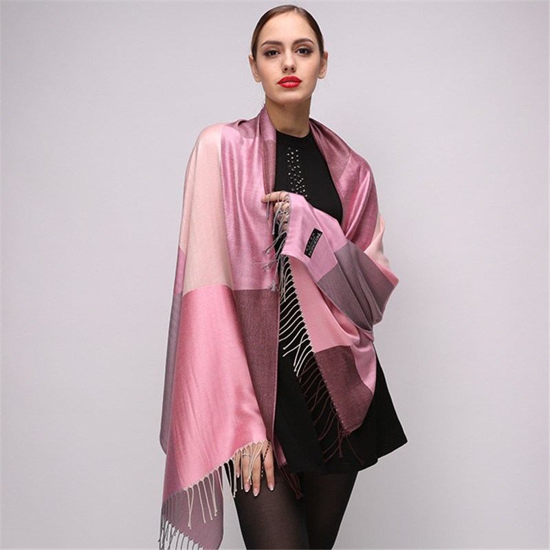 2018 Top quality Winter Scarf Plaid Scarf Women Luxury Brand Scarves Ladies Wraps Warm Shawls Fashion Patchwork Tassels Pashmina