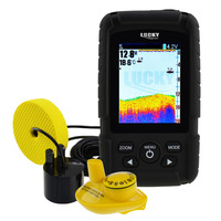 LUCKY 2 In 1 Fish Finder 100m Depth 328ft 100m Wireless Coverage Eng RU Menu 6M