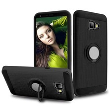 Galaxy J4 2018 case,Silicone Shockproof Car Magnets Cover TPU+PC for Samsung j4