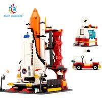 City Spaceport Space The Shuttle Launch Center 679Pcs Bricks Building Block Educational Toys For Children Legoings