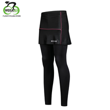 WOSAWE Cycling Tights Breathable Ultralight Ice Cooler Fabric Women Bicycle Bike Shorts With Skirt Comfortable 3D Padded Female