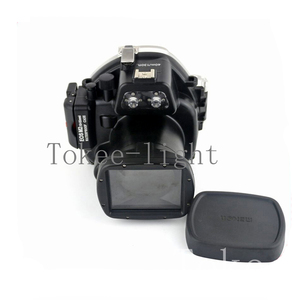 Image 1 - 40 meters Underwater Waterproof Housing Diving Camera Case Housing Bag for Canon EOS M2 EOS M2 EOS M II Camera fit 18 55mm lens