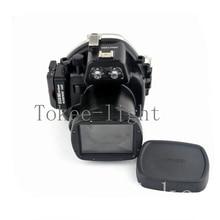 40 metre sualtı su geçirmez muhafaza dalış kamera kılıfı konut çantası Canon EOS M2 EOS M2 EOS M II kamera fit 18 55mm lens