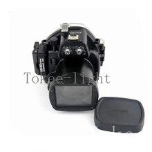 40 מטרים מתחת למים עמיד למים דיור צלילה מצלמה מקרה שיכון תיק עבור Canon EOS M2 EOS M2 EOS M השני מצלמה fit 18 55mm עדשה