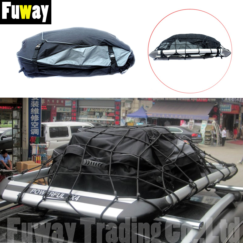 DHL Free Shipping !!! Universal Waterproof SUV Roof Top Cargo Carrier Bag Luggage Travel Storage Case Car Accessories kemimoto 15 cubic feet rooftop cargo carrier waterproof roof top cargo luggage travel bag for car truck suv vans with roof rails