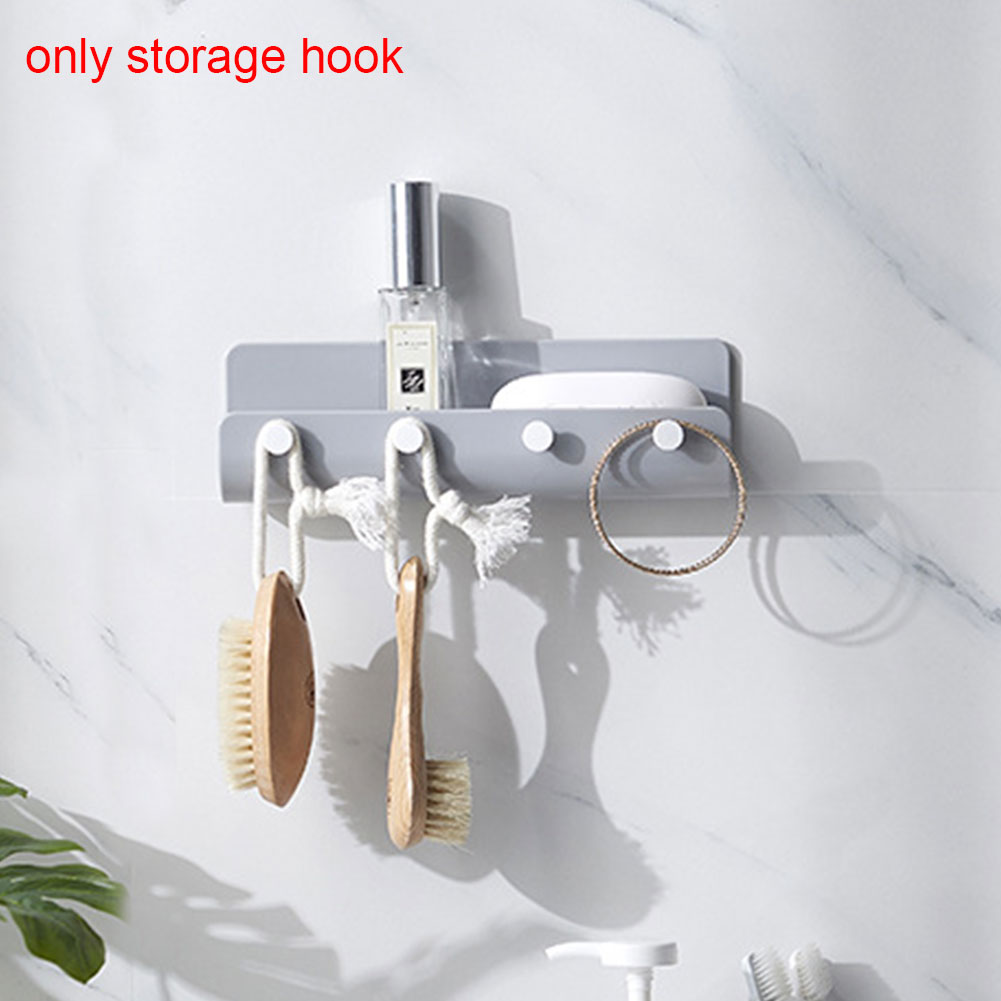 Hook Rack Wall Mounted Practical Organizer U Shaped ABS Storage Durable Home Hanger Holder Adhesive Decor Key Hanging