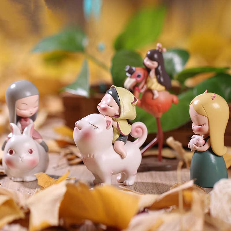 Bianco di Notte Fata Tales Gatto Generale Buonanotte Coniglio di Casa Creative Desktop per il Compleanno Della Ragazza giocattoli di Moda