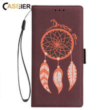 CASEIER Leather Phone Case For iPhone 7 Plus 8 X XS Max XR Embossed Wind Chime Pattern 6 6s 5 5S Card Cover