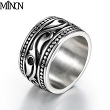 ring men stainless silver for Titanium Steel Punk gifts steel high quality mens rings
