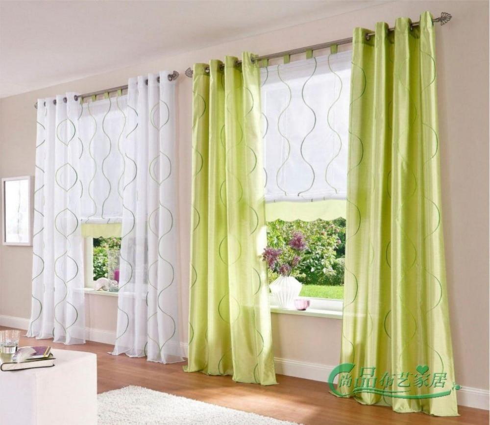 Nuevo acabado cortinas para ventanas de gasa cortina escarpada voile cortinas bordadas sal n - Tende sala moderna ...