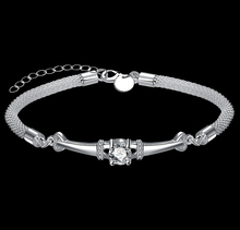 Silver-Plated Bracelets High-Quality Jewelry Austria Crystal Buckle Bracelets Screw Bracelet Hand Chain Fit diy European Charms