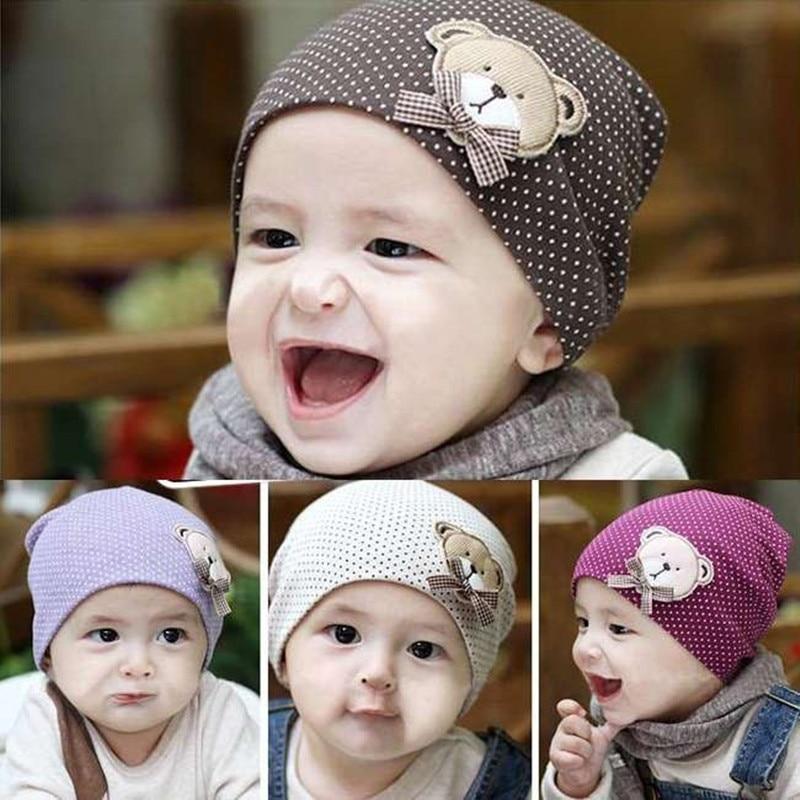 Bayi yang baru lahir Topi Musim Dingin Musim Gugur Bayi Katun Bayi beanie  Caps Balita Crochet f86b897db0