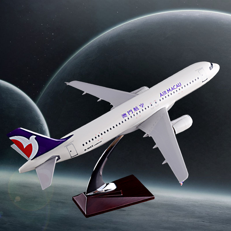 37cm Resin Aircraft Model A320 Air Macau Aeronautical Model Aviation China Macau Airplane Airways Model Airbus Creative Gift Toy цены