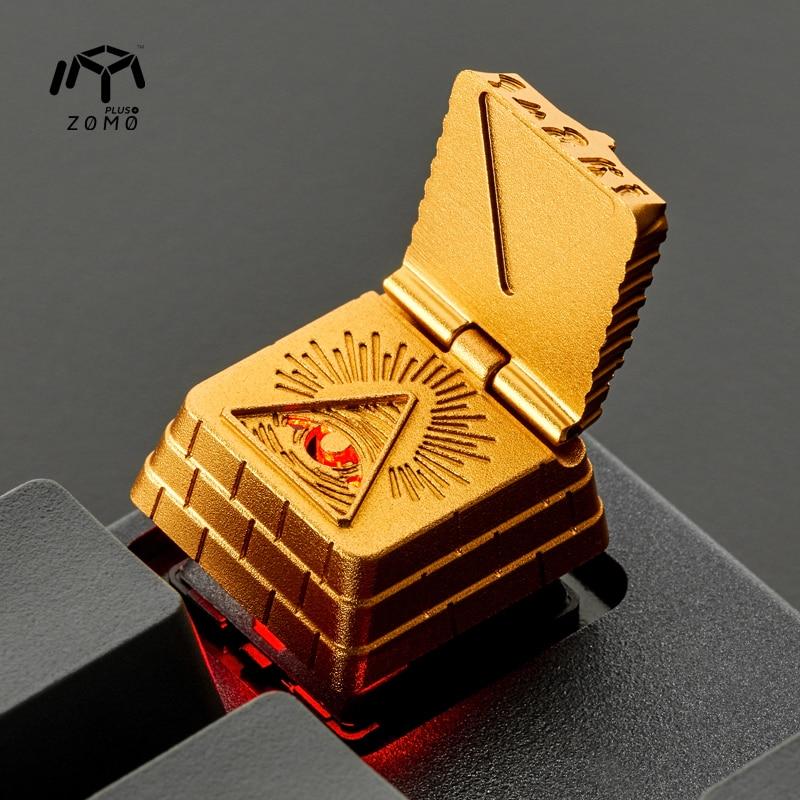 Zomo Eye Of Providence Akhnaton Pharaoh Egypt Artisan Keycap CNC Anodized Aluminum Compatible Cherry MX Switches